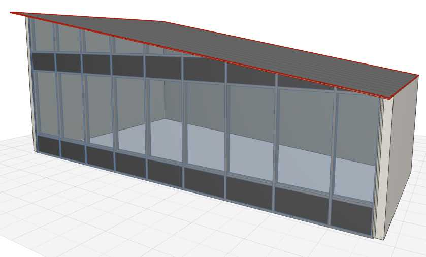 ArchiCAD Question of the Day - How to Trim a Curtain Wall with a Roof