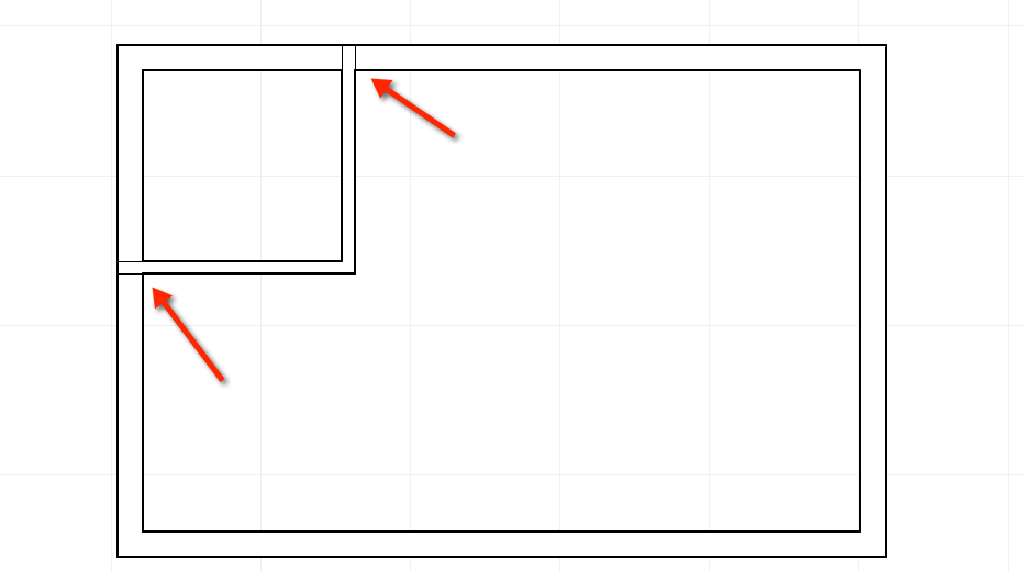 Interior walls stick through the exterior in this ArchiCAD training question
